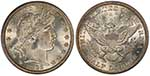 Barber Half Dollar coin