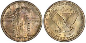 Standing Liberty Quarter coin